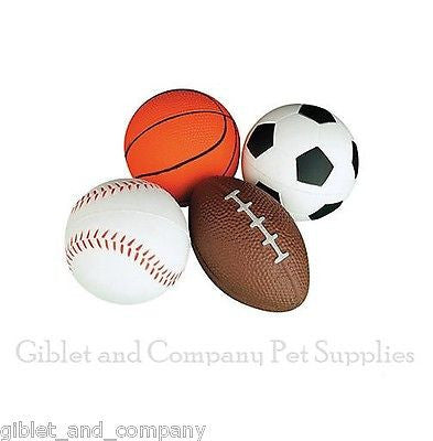 KITTY SPORT BOUNCE BALLS Rubber Baseball Soccer Football RugbyBasketball Cat Toy