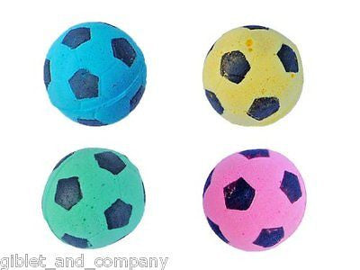 SOCCER BALLS CAT TOYS - Sm/Bulk Lots Soft Spongy Foam Quiet Play Bouncy Kitten