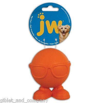 JW PET HIP CUZ - Sm/Med/Lg Hipster Squeaker Erratic Bounce Ball Feet Dog Toy