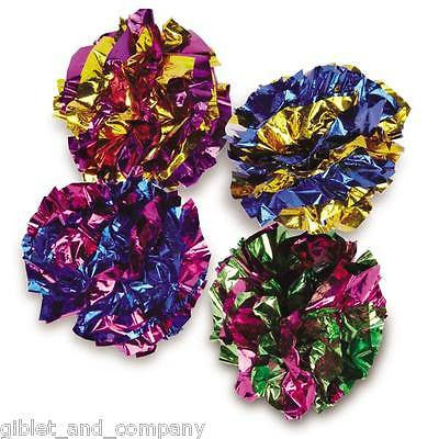 GIANT MYLAR BALLS - Lots 1/2/4/8 Big Shiny Crinkle Crackle Lightweight Cat Toys