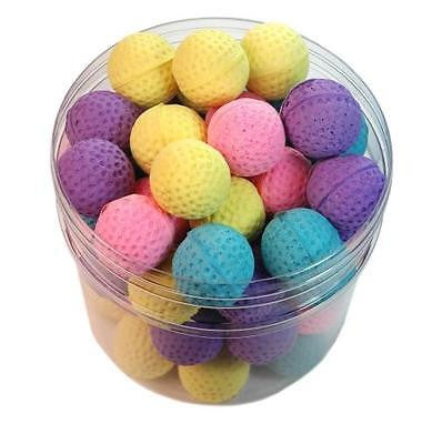 KITTY SPONGE BALLS - Lots 30/60 Soft Spongy Foamy Bouncy Balls Kitten Cat Toys