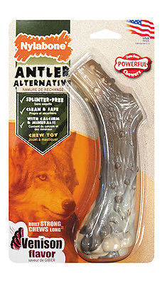 NYLABONE DURA CHEW ANTLER - Splinter Free Nylon Powerful Chewers Dog Chew Toy