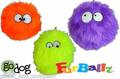 FURBALLZ Fuzzy Ball Dog Toy Go Dog Just for Me Chew Guard Technology SqueakerFun