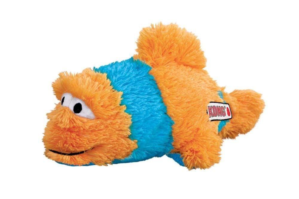 KONG AQUA KNOTS MEDIUM/LARGE FISH Internal Knotted Rope Squeaker Soft Plush
