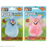 FAT CAT FLUFF BUNNIES CAT TOY - Premium Catnip Rabbit Faux Fur Kitten Cat Toy