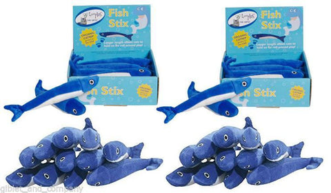 LOOPIES FISH STICKS Blue Fish Soft Floppy Plush Catnip Cat Toy