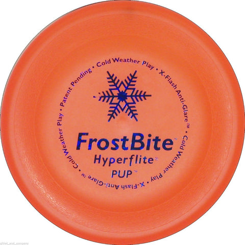 HYPERFLITE FROSTBITE PUP DISC - Cold Weather Play Flyer Frisbee Puppy Sm Dog Toy