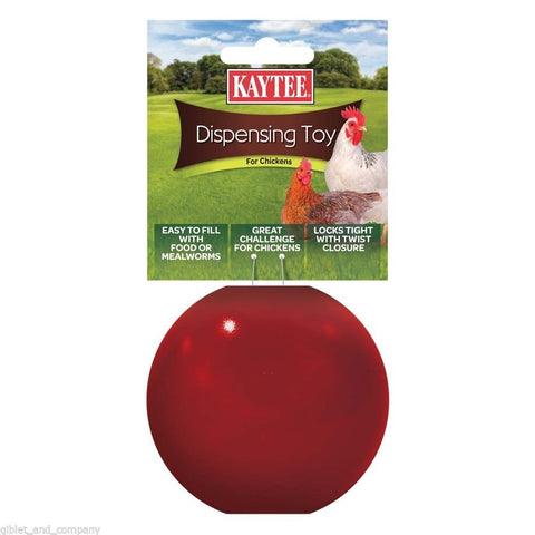KAYTEE DISPENSING TOY for CHICKENS Food Mealworms Roll Easy Open Refill