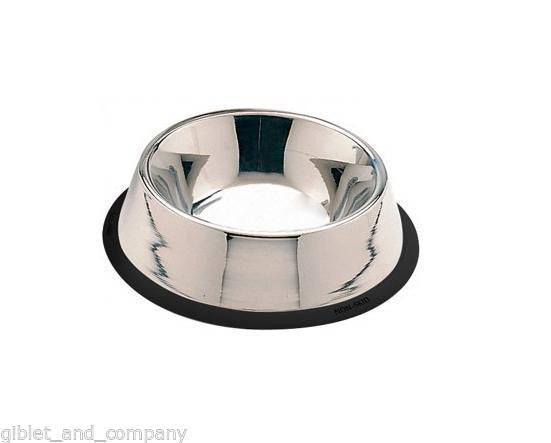 NO TIP MIRROR FINISH STAINLESS STEEL BOWL 16/24/32/64/96 Dog Food Water Bowl Cat