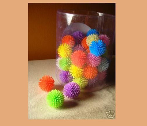 PORCUPINE BALLS CAT TOYS Sm & Bulk Colorful Soft Plastic Ball Roll Quiet Play