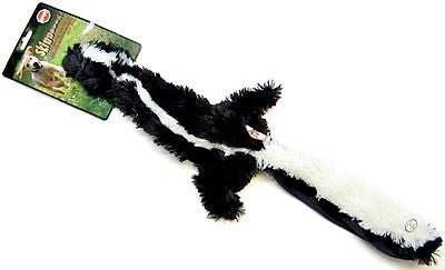 SKINNEEEZ SKUNK DOG TOY - Mini/Reg/Jumbo NO Stuffing Squeaker Floppy Soft Plush