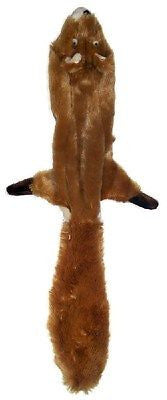 "SKINNEEEZ SQUIRREL DOG TOY - Mini 14"" / 24"" No Stuffing Squeaker Floppy Dog Toy"
