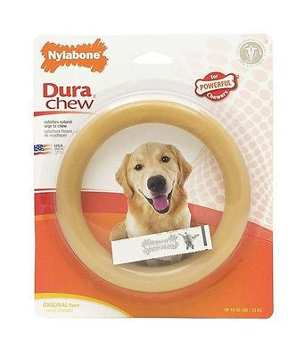 NYLABONE DURACHEW RING GIANT Size - Powerful Chewers Tough Durable Chew Dog Toy