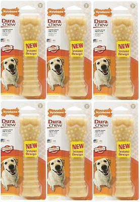 LOT of 6 SOUPER NYLABONE DURACHEW BONES Asst Flavors Durable Tough Dog Toy