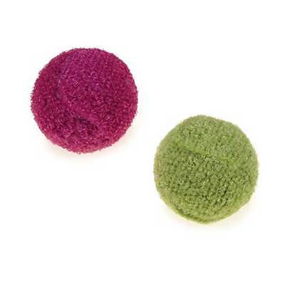 KNIT RATTLE BALLS Smackable Hollow Lightweight Rattle Roll Balls Kitten Cat Toys