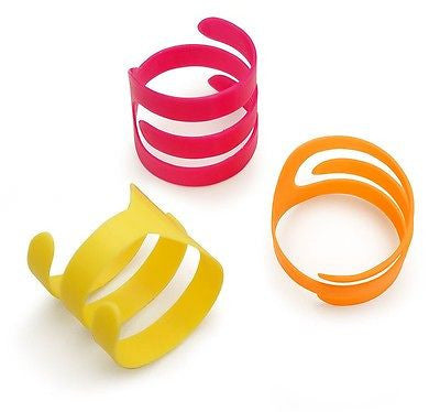 LOONEY LOOPS 3-PACK CAT TOYS - Plastic Swirly Rolls Swat Bright Colors Cat Toys