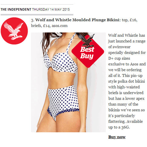 the independent, swimwear, fuller bust, press, wolf & whistle, fashion shoot, bikini