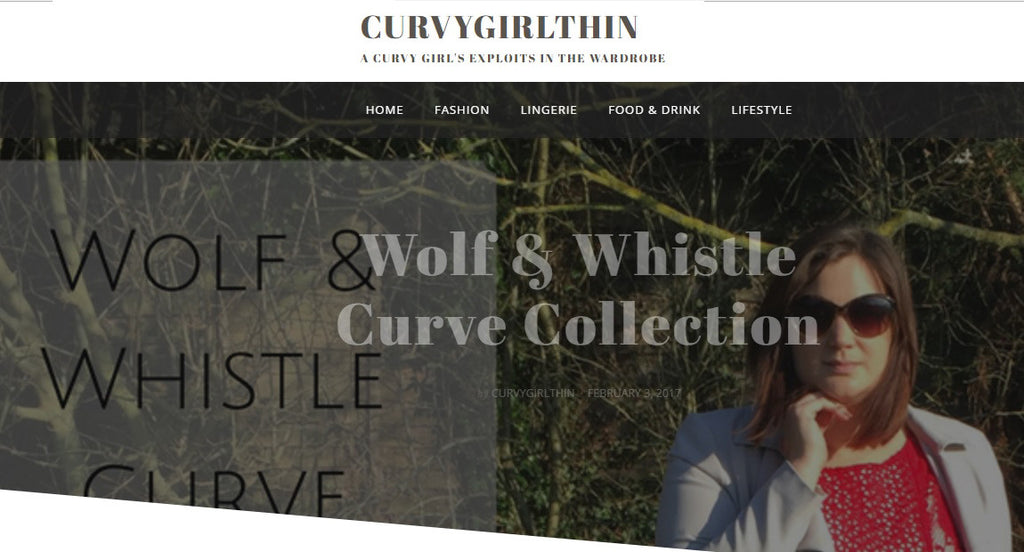 curvy girl thin, fashion blogger, wolf & whistle, street style, plus size blogger,