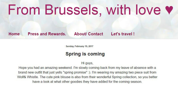 from brussels with love, fashion blogger, style blog, wolf & whistle, street style