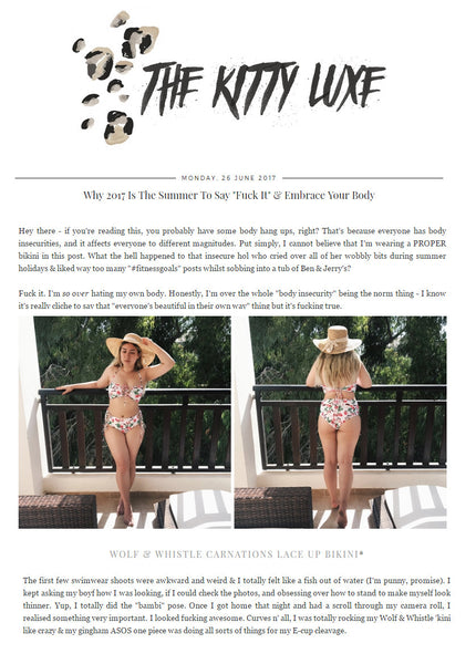 kitty luxe,fashion blogger, swimwear, wolf & whistle, carnations bikini