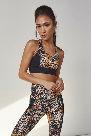 Printed Crop Leggings Leopard Curve