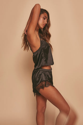 Millie Satin and lace PJ set