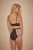 Avis Fishnet and Lace High Waist Brief