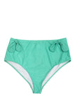 Bunny tie high waist brief mint Curve