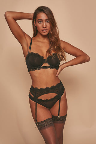 Assa lace cut out longline bra B - F