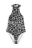White Eco Giraffe Swimsuit