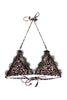 Leopard Eco Lace Trim Triangle Bikini Top