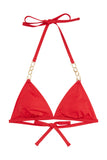 Wolf & Whistle Red chain triangle top