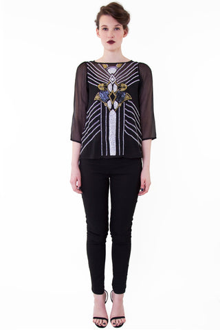 Placement Beaded Top - Wolf & Whistle