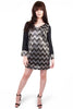 Elouise Chevron Sequin Dress