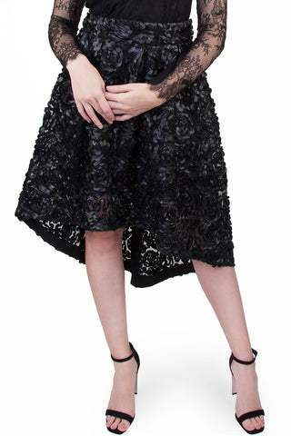 Wolf & Whistle black drop hem skirt