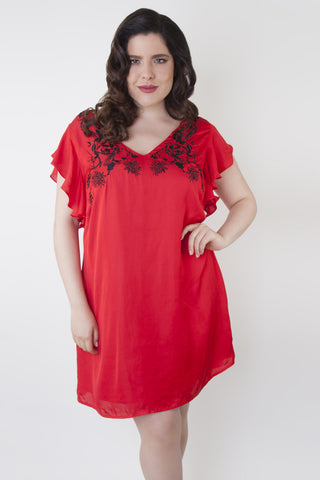 Thea Embroidered Dress Curve