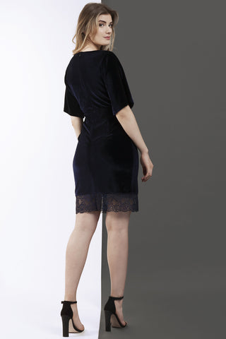 Nina velvet kimono sleeve dress - Wolf & Whistle