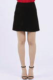 Toni Black Suede Look Skirt - Wolf & Whistle