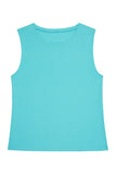 Cotton Knot Front Vest Blue Curve