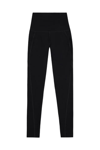 High Waist Leggings Black Curve