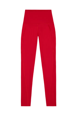 High Waist Leggings Red Curve