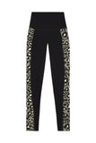 High Waist Panelled Leggings Leopard Curve