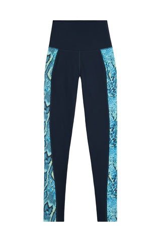 High Waist Panelled Leggings Snake Curve