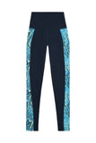 High Waist Panelled Leggings Snake