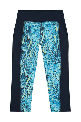 Printed Crop Leggings Snake Curve