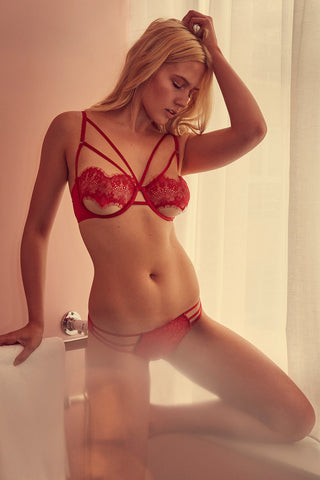 wolf and whistle red lingerie