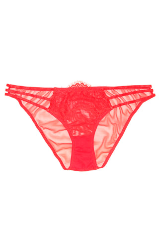 Wolf & Whistle brody red lace brief