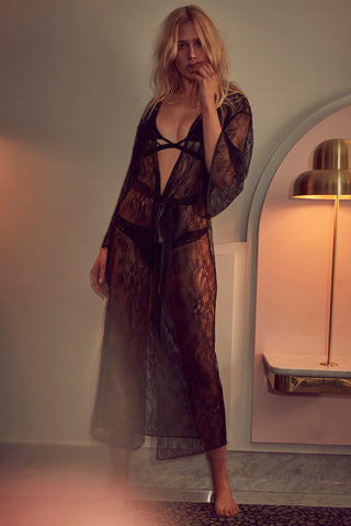 wolf and whistle lace long robe