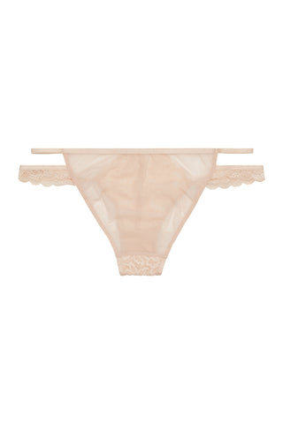 Abi Peach lace cut out brief