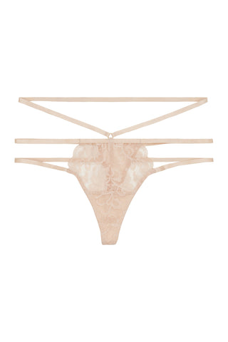 Brody Red eyelash lace open side brief